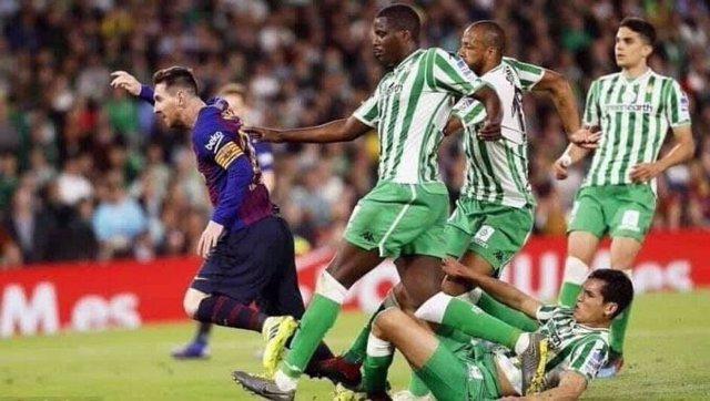 Esta es el dibujo que Messi recreo y dio vida ante el Betis sin él saberlo