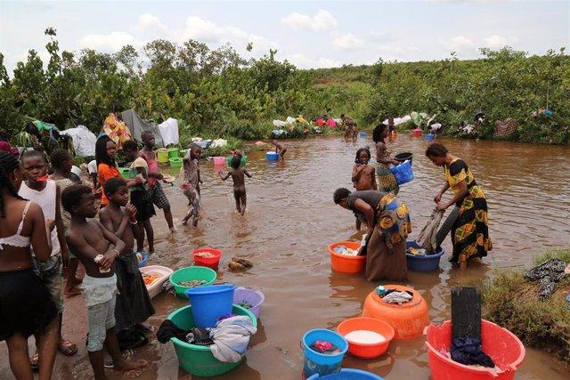 Migrantes congoleños retornados desde Angola