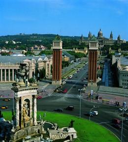 Plaza Espanya, Avinguda Regna Maria Cristina, Montjuc, Fira, MNAC De Barcelona