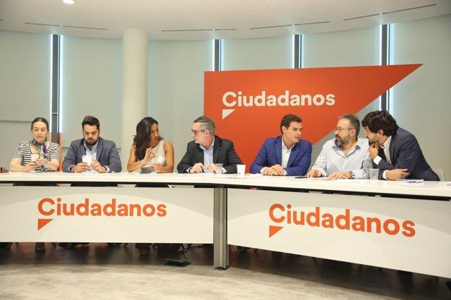 Reunió de l'Executiva Nacional de Ciudadanos presidida per Albert Rivera
