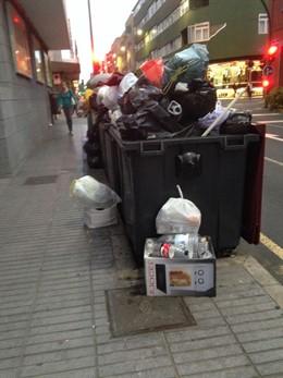 Contenedor de basura en Las Palmas de Gran Canaria