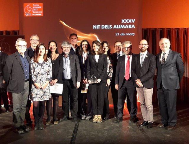 L'Observatori del Turisme a Barcelona rep el Premi Alimara CETT 2019