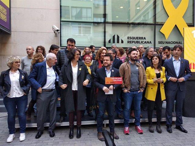 """Rovira llama a defender el proyecto de ERC """"hasta el final"""" un año después de su"""