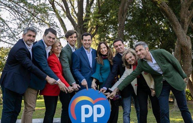 El PP-A presenta los candidatos números uno de cada provincia andaluza al Congre