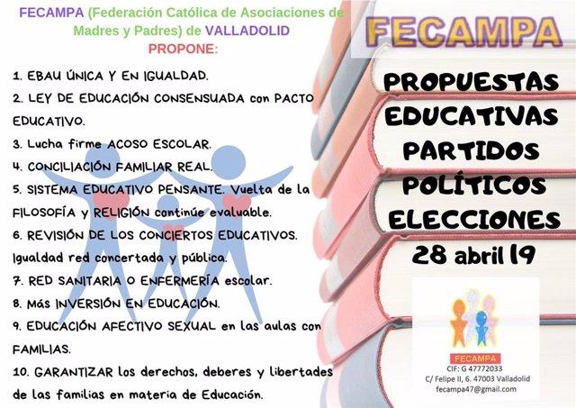 Fecampa presenta un decálogo a los partidos para pedir más inversión, EBAU única
