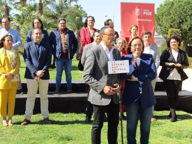 """Huelva.-28A.- PSOE presenta candidatura al 28A y destaca la """"reconocida trayecto"""