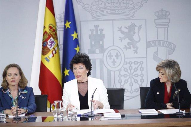 Rueda de prensa posterior al Consejo de Ministro