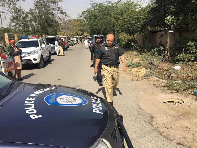 Policía en Karachi, Pakistán