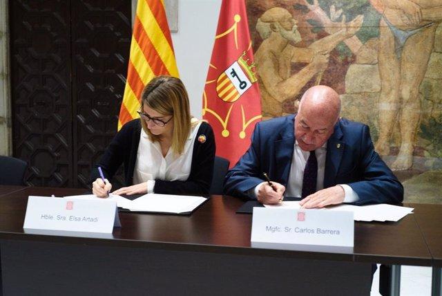 El Govern i el Síndic d'Aran signen l'acord per al nou model de finana