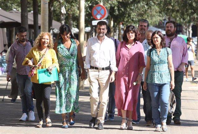 Los Portavoces De Las Formaciones Que Conforman 'Adelante Andalucía'