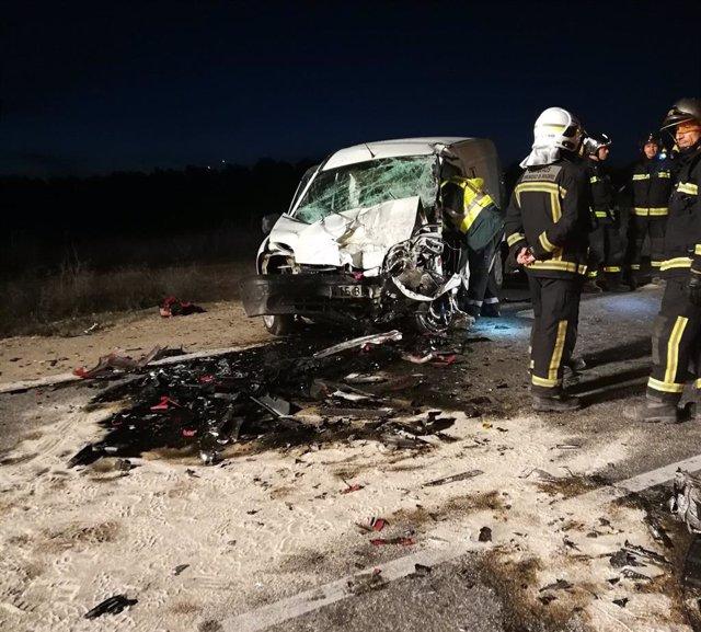 Dos heridos, uno de ellos grave, en un choque frontal en la M-311 a la altura de