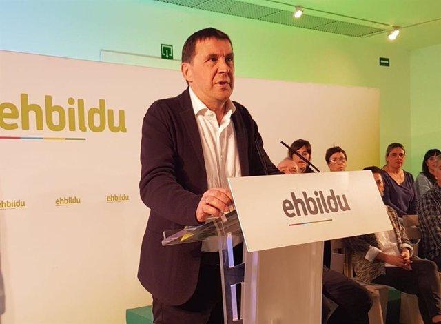 28M.- EH Bildu reclamará en el Congreso la apertura de un proceso de diálogo sob