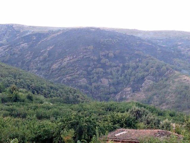 Incendio Cabezuela del Valle