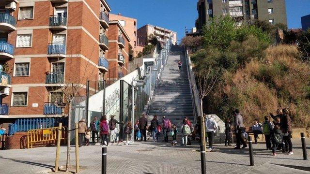 Entra en funcionament l'ascensor de la Davallada de Gallecs d'Horta-Guinardó