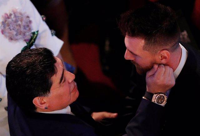 Diego Armando Maradona Leo Messi The Best FIFA Football Awards
