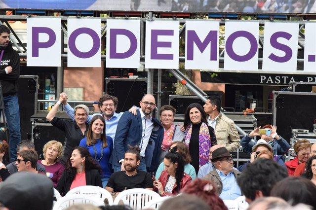 28A.- Varios Representantes De Podemos Baleares Asisten A Madrid Al Acto Polític