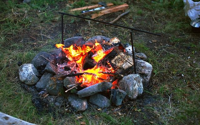 Hoguera, fuego, carbón