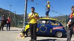 Unes 200 persones inicien una marxa cap a Brussel·les per demanar a Europa que validi l'1-O (CAMÍ PER LA REPÚBLICA)