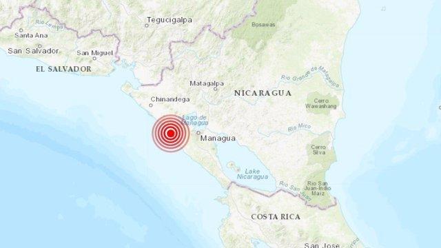 Un terremoto de 5,3 grados sacude la costa de Nicaragua