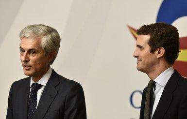 Casado tria Adolfo Suárez com el seu número dos per Madrid en la llista del PP al Congrés (Oscar del Pozo - Europa Press)