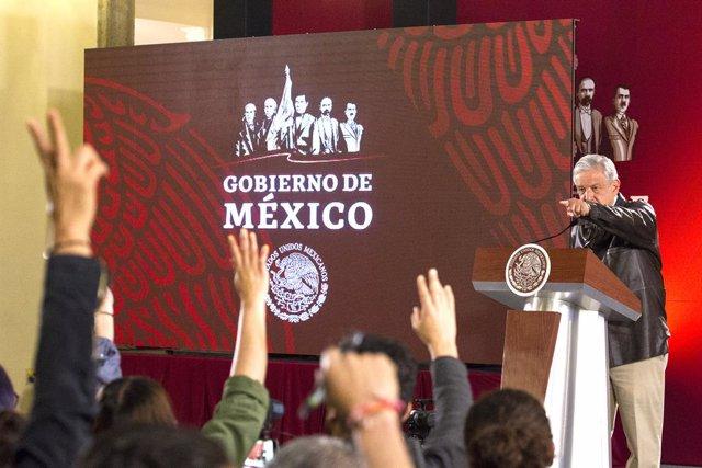 Mexican President Obrador press conference in Mexico