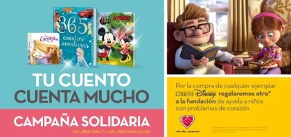 Disney y Planeta inician una campaña solidaria con libros a favor de Menudos Corazones