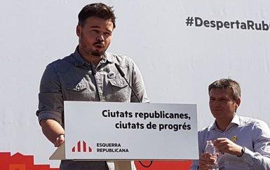 """Rufián avisa que """"l'amenaça real"""" és un pacte PSOE-Cs i no """"l'arribada dels tres genets de l'apocalipsi"""" a La Moncloa (ERC)"""