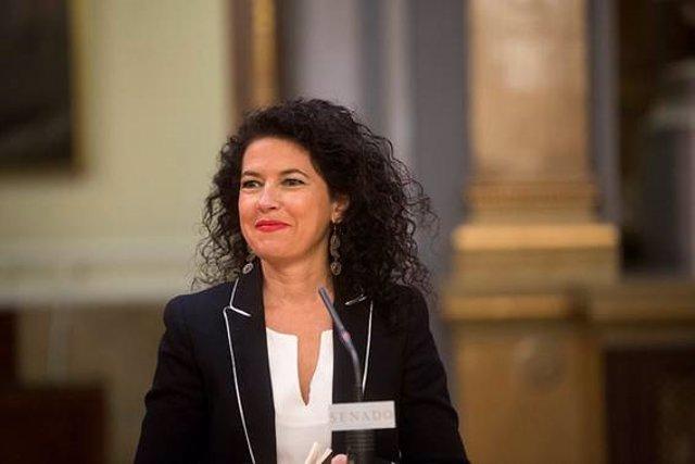 La portavoz adjunta de Unidos Podemos en el Senado, Maribel Mora