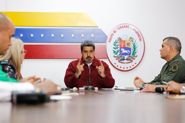 Venezuelan President meeting at the command centre in Venezuela