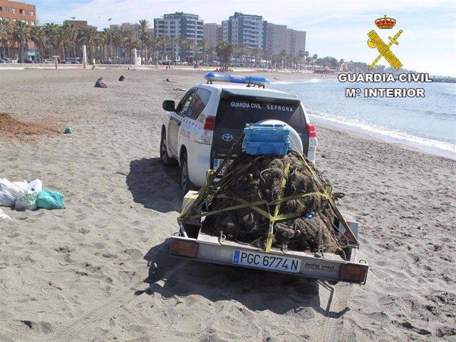 Almería.- La Guardia Civil interviene más de 500 kilos de pescado sin trazabilid