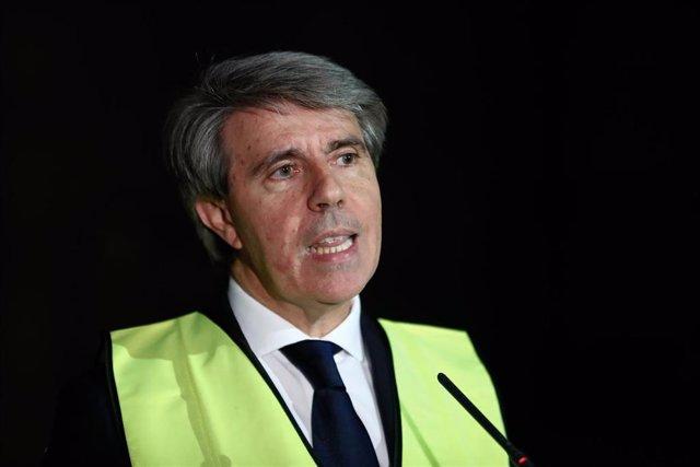 El presidente de la Comunidad de Madrid, Ángel Garrido asiste a un simulacro de