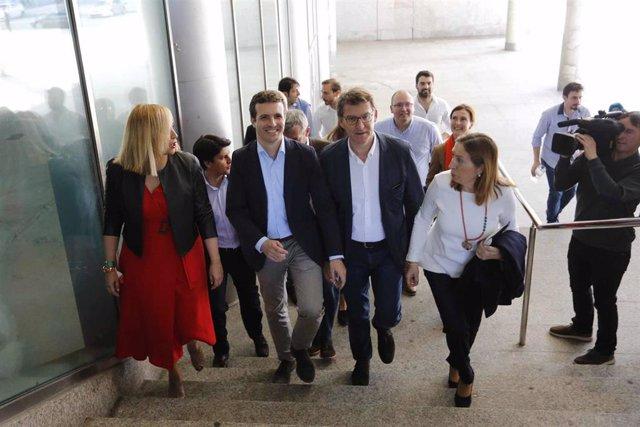 Acto de entrega a los carnets a nuevos afiliados del PP en Vigo con el president