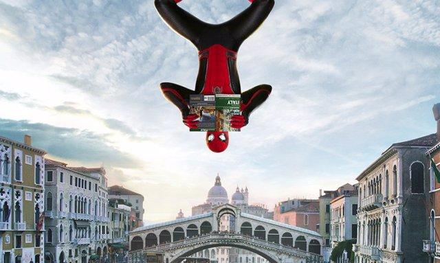 Nuevos carteles de Spider-Man: Lejos de Casa con Peter Parker de gira por Europa