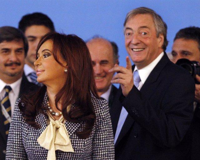 Nestor Kirchner y Cristina Fernández
