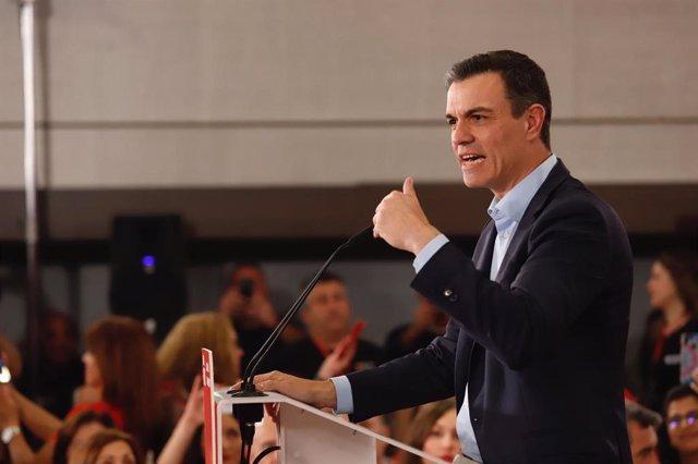 """28A.-AM.-Sánchez apela a ir a votar para que PSOE gane y gobierne para dar """"una"""