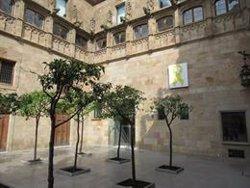 Despengen el llaç groc de l'interior del Palau de la Generalitat (EUROPA PRESS - Archivo)