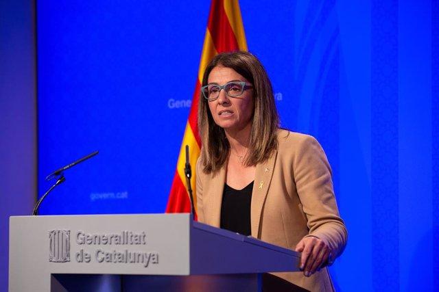 Roda de premsa del Govern de la Generalitat després del Consell Executiu