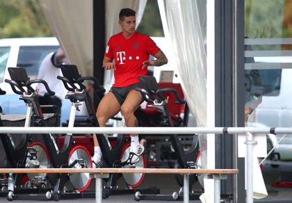 El Bayern Múnich se entrena sin David Alaba ni James Rodríguez