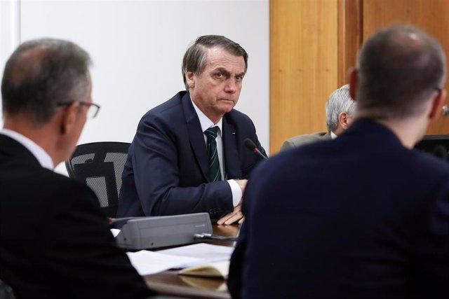 Brasil/EEUU.- Bolsonaro llega a EEUU para su reunión con Trump