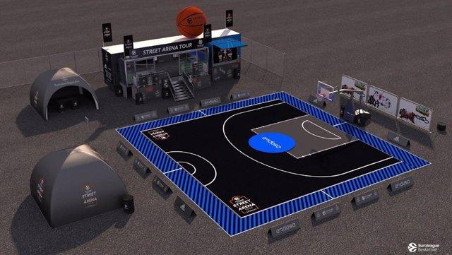 Baloncesto.- Euroliga y Endesa lanzan un circuito de basket urbano que pasará po