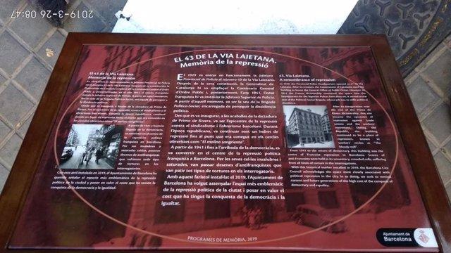 """Denuncian al Ayuntamiento de Barcelona por """"estigmatizar"""" a la Policía con placa"""