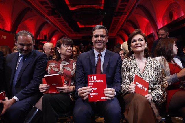 Pedro Sánchez presenta las 110 principales medidas del programa electoral del PS