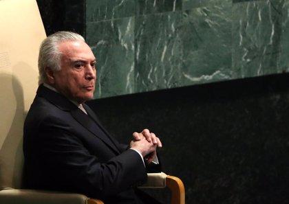 La Fiscalía brasileña ratifica una denuncia contra el expresidente Michel Temer