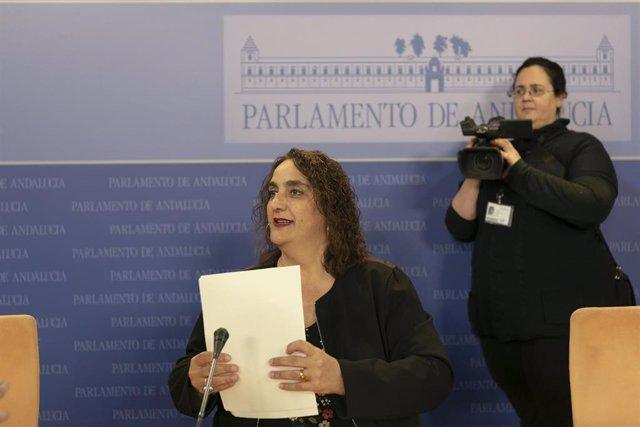 Rueda de prensa de la portavoz adjunta de Adelante Andalucía en el Parlamento,