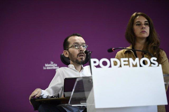 Rueda de prensa de Podemos tras el Consejo de Coordinación