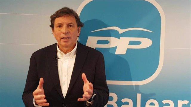 El candidato del PP al Ayuntamiento de Palma, Mateu Isern