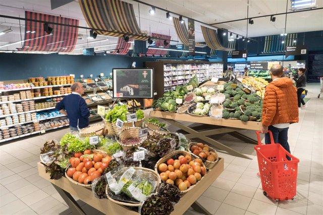 Eroski aumenta más de un 33% las ventas de alimentos de origen local en el País