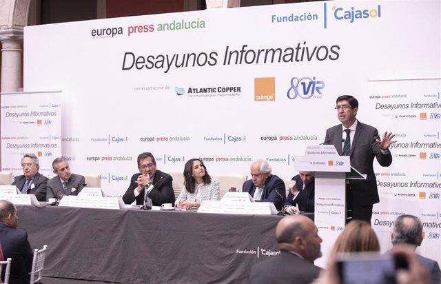 Desayunos informativos de Europa Press Andalucía. La por la portavoz nacional de