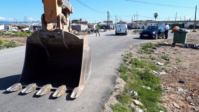 Termina la primera fase del desmantelamiento de Son Banya con la demolición de 3