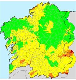 Rural.- La mitad sur de Galicia y parte de A Coruña están en riesgo alto de ince